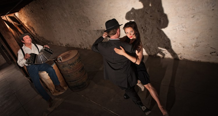Young Tango Dancers Performing